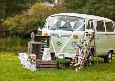 Classic campervan wedding